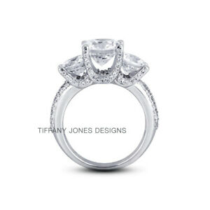 1.62ct G-SI1 Round Natural Diamonds 14k Vintage Style Three-Stone Ring