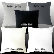 Aa -Cream White Gray Black Cotton Canvas Pillow Case/Cushion Cover*Custom Size