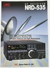 Japan Radio Company JRC NRD-535 Receiver Brochure 1990's -Great Collector's Item