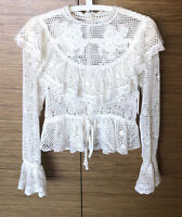 ZIMMERMANN CASTILE CROCHET MOTIF TOP BNWT AU UK Size 0 U.S 0 EU 34 $395 SOLD OUT