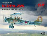 ICM 1:72 Modelo a Escala Kit - U-2/Po-2VS, WWII Soviético Noche Bomber ICM72243