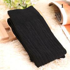 Women Over Knee Wool Knit Long Socks Winter Thigh-Highs Warm Socks Stocking