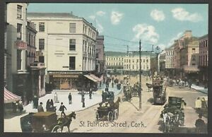 Postcard County Cork Ireland early view of St Patrick's Street