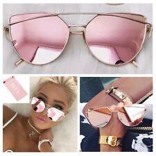 1b03ed5dee886 AYZA Katzenauge Cateye Sonnenbrille Damen Rosagold Verspiegelt Brillentasche