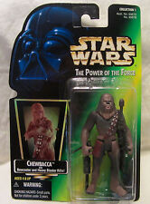 1997 STAR WARS POWER OF THE FORCE - Chewbacca con / bowcaster & Lanzador Rifle
