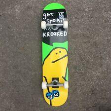 "KROOKED SKATEBOARDS - COMPLETE SKATEBOARD TEAM SHMOO MULTI 7.5"" INCH NEW"