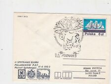 Poland 1983 Arctic Antarctic Polar Expedition Stag Slogan Stamps Cover ref 23199