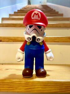 """Custom Super Mario Stormtrooper 9"""" Vinyl Kaws Quiccs Kidrobot World Of Nintendo"""