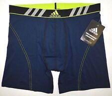 NWT ADIDAS Mens Stretch Boxer Briefs Athletic Underwear Navy Blue Solar M 32-34