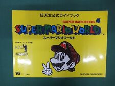 SNES -- SUPER MARIO EORLD Offcial guide -- JAPAN Game Book. 20218