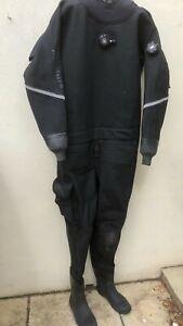 Oceanic Scuba Dry Suit, Black, Mens XL, XXL Boots