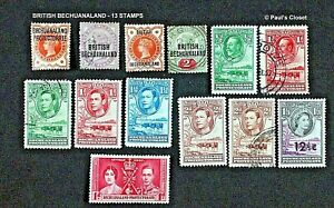 BRITISH BECHUANALAND PROTECTORATE 1897 - 1961~13 STAMPS MLH/UNG F-VF