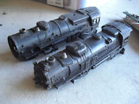 Lot of 2 O Scale Lionel Diecast Locomotive Body Shells 2026 2035