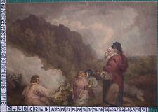 1799 impression à la manière noire-la fougère cueilleurs-avec main de coloriage morland & smith
