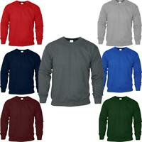 Mens Plain Sweatshirt Crew Neck Pullover Fleece Jersey Sweater Jumper SNSAPPAREL
