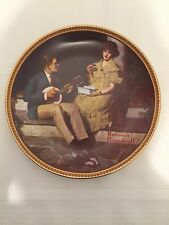 "Collectible Norman Rockwell Numbered Porcelain Plate ""Pondering On The Porch"""