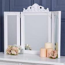 White Triple Mirror Ornate Freestanding Modern Bedroom Home Glass Chic