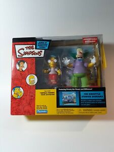 The Simpsons Krustylu Studios Diorama Featuring Krusty the Clown and Milhouse