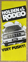 1981 Holden Rodeo original Australian sales brochure (8P)