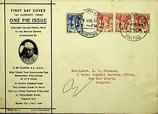 BURMA 1940 G VI 4V ON FDC TO COMMEMORATE ONE PIE ISSUE TO NAVAL CONTROL