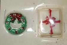 Vintage Bradford Christmas miniatures for Crafts or decoration wreath & present
