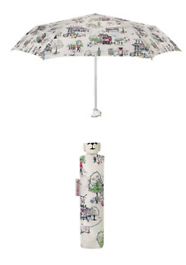 Cath Kidston Billie Goes To Town Dog Head Handle Umbrella Ivory Colour