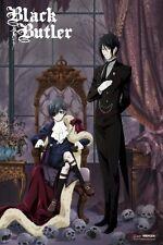 BLACK BUTLER ~ SKULLS ~ 24x36 Anime Poster ~ NEW! ~ Manga Yana Toboso Ciel