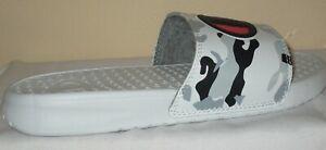 KID'S CHAMPION SUPER SLIDE CAMO WHITE/BLACK SANDAL  SIZE 2