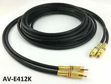 12ft Premium 2-RCA Gold Plated Male/Female Extension, CablesOnline AV-E412K