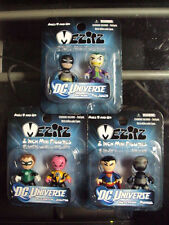 DC UNIVERSE Mez-Itz Series 1 Complete New Set of  3  2-Packs Superman Batman Gre