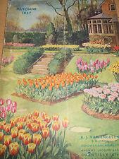 Catalogue jardins fleurs 1937 Chantilly ( Oise 60 )