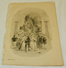 1880 SHAKESPEARE Antique Print/SCENE FROM ROMEO & JULIET/BOOK PLATE