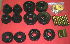 67-72 Chevy GMC 1/2 Ton 2wd Truck Black Poly Cab Mount Kit Core Support Bushings