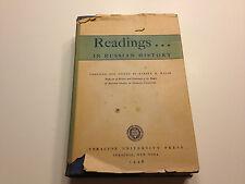 Readings in Russian History, Edited by Warren B. Walsh (1948)