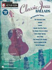 Jazz Play-Along Classic Jazz Ballads Clarinette Sax Saxophone Flute Music Book & CD