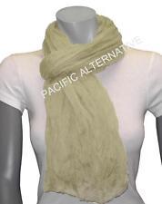 Foulard Beige grand gros 110x170 femme mixte chale echarpe NEUF scarf woman