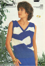Ladies Emu Knitting Booklet  No. 4009 Glimmer  Six Sizes 76-102cm 30-40in
