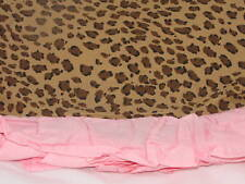 New Leopard Animal Girls Pink Spotted Twin Bed Skirt Ruffled Company Kids reg$45