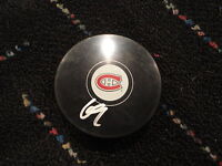 Alex Galchenyuk Signed Montreal Canadiens logo Puck auto autographed COA ROY!!!