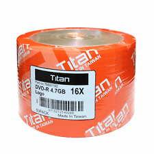 50 Titan 16X Logo DVD-R DVDR Blank Disc Media 4,7GB