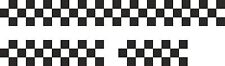 CHEQUERED FULL CAR DECAL KIT vw golf vauxhall astra stickers chequered flag mini