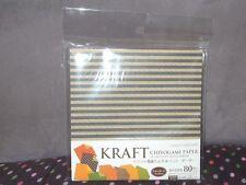 8 Pattern Kraft Chiyogami Paper Origami (15 x 15cm) No. 9
