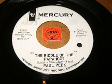 PAUL PEEK - THE RIDDLE OF THE PAPAHOOS - THE GOOD OF   /  LISTEN - TEEN POPCORN
