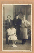 Carte Photo vintage card RPPC groupe femmes travesties lesbienne kh012