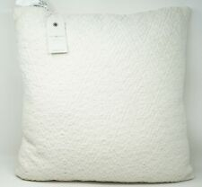 "Lucky Brand 18"" x 18"" Diamond Matelasse 100% Cotton Decorative Pillow - White"