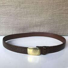 Dooney & Bourke Women's BrownSnakeskin Vintage Leather Lined Size 30 M