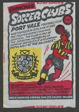 Anglo-American Gum Bell Boy wax wrapper Famous Soccer Clubs #110 - Port Vale