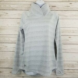 NWT Under Armour Loose Womens Small Zinger White Gray Pullover Top Shirt 1317157