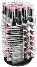 Spinning Lipstick Tower Cosmetic Makeup Acrylic Organizer Rotating Holder Beauty