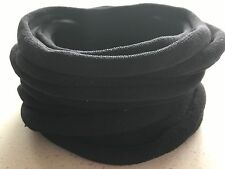10 Pieces Thin Wholesale Nylon Elastic Stretch Headbands Black 26cm 6mm wide